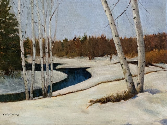 Early Snow, Birches