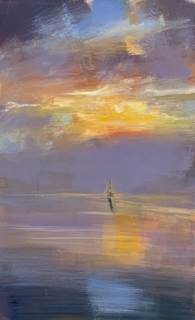 "Craig Mooney | Leeward Light | Oil on Canvas | 30"" X 18"" 