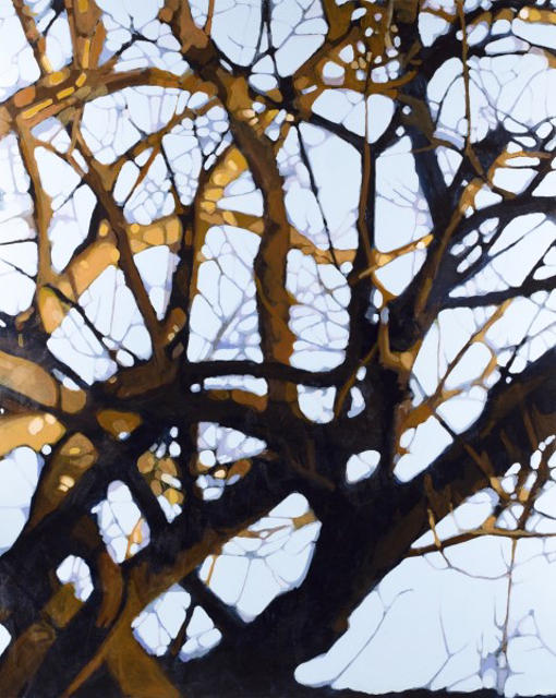 "Liz Hoag | Golden Tangle | Acrylic | 60"" X 48"" 