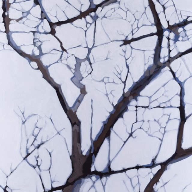 "Liz Hoag | Soft Tangle 2 | Acrylic | 40"" X 40"" | Sold"