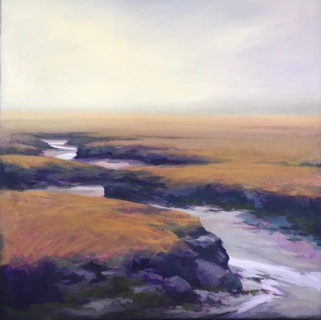 "Margaret Gerding   Wells, Maine in Fog   Oil on Canvas   24"" X 24""   $4,000.00"
