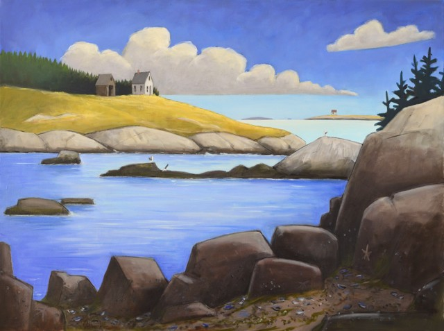 "David Witbeck | Archipelago | Oil on Canvas | 36"" X 48"" 