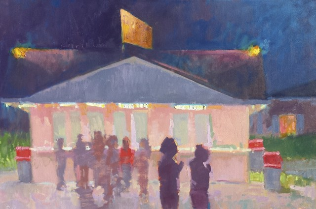 "Daniel J. Corey | Ice Cream Night | Oil | 24"" X 36"" 