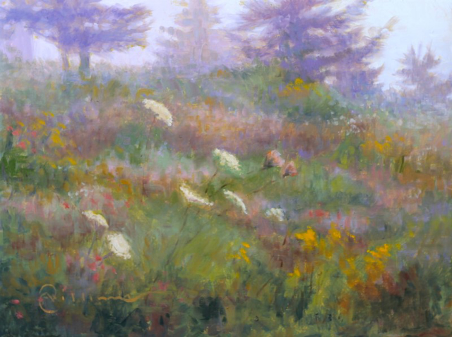 "Abbie Williams | Fog and Fauna | Oil | 12"" X 16"" | Sold"