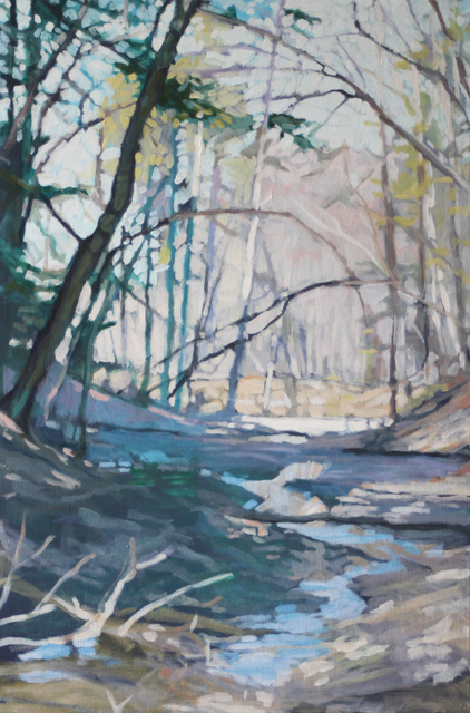 "Liz Hoag | A Favorite Walk | Acrylic | 36"" X 24"" | Sold"