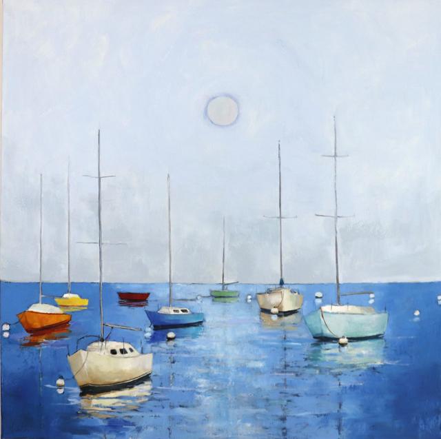 "Ellen Welch Granter | Moon Halo | Oil on Canvas | 36"" X 36"" | $3,600.00"