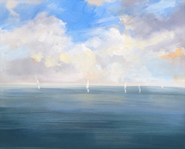 "Craig Mooney | Day Sail | Oil | 24"" X 30"" 