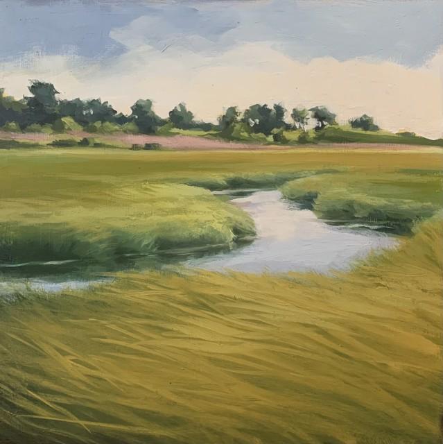 "Margaret Gerding   Maine Moments - Day 3   Oil on Panel   10"" X 10""   Sold"