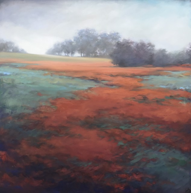 "Margaret Gerding | Orange in the Mist | Oil on Canvas | 36"" X 36"" 
