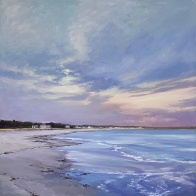 "Margaret Gerding   Beach Walk I   Oil on Canvas   40"" X 40""   Sold"