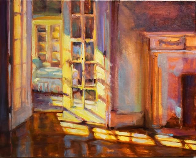 "Karen Bruson | Morning Glow | Oil on Canvas | 16"" X 20"" | Sold"