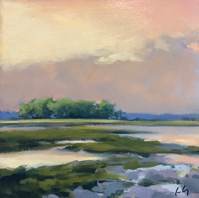 "Margaret Gerding | Study at Turbat's Creek | Oil on Panel | 8"" X 8"" 