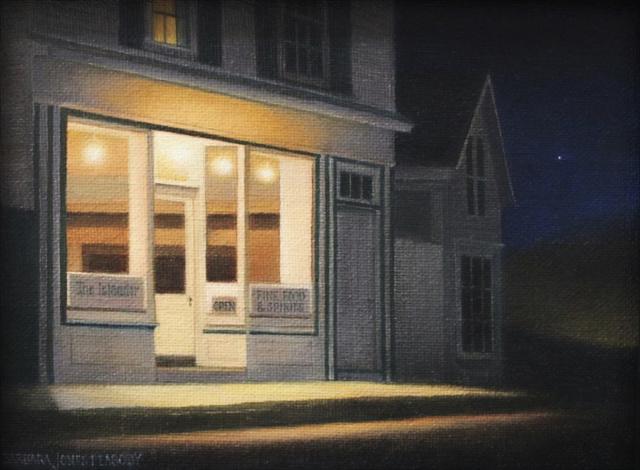 "Barbara Jones Peabody | Closing Time | Oil | 6"" X 8"" | Sold"
