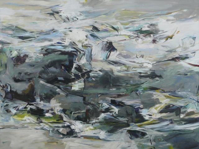 "Jeffrey T. Fitzgerald | Billow and Unfurl | Acrylic | 36"" X 48"" | $3,400.00"