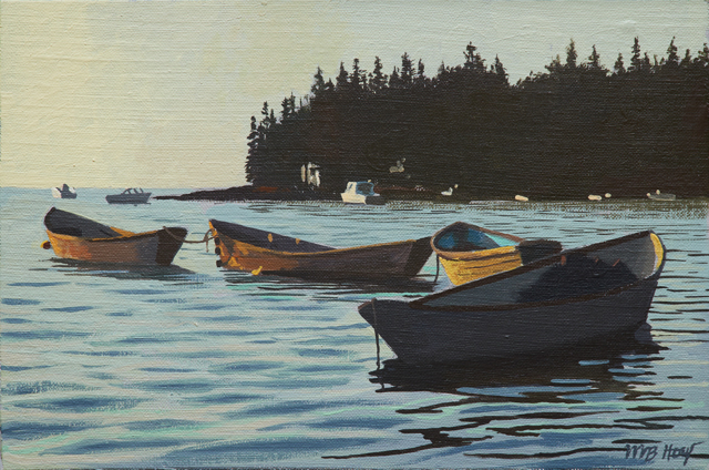 "William B. Hoyt | Dories | Oil | 8"" X 12"" 