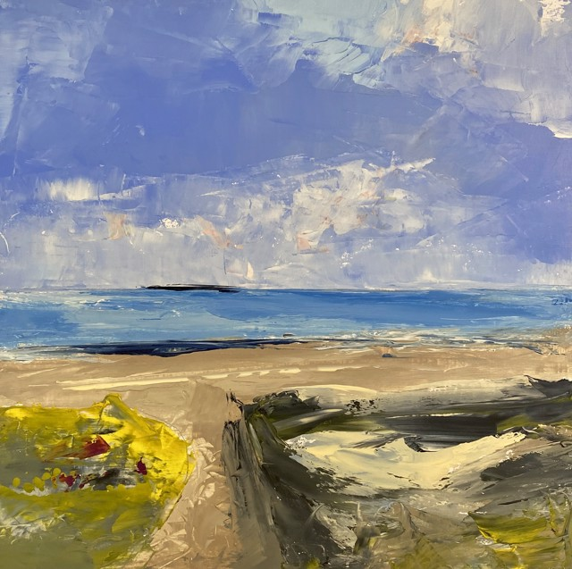 "Janis H. Sanders | Summer Shoreline 3 | Oil on Panel | 12"" X 12"" 