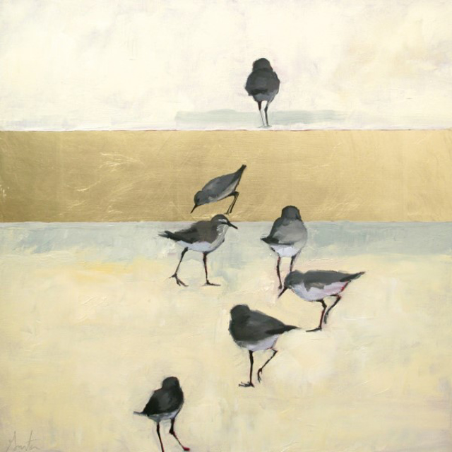 "Ellen Welch Granter | Free | Oil and Gold Leaf on Canvas | 24"" X 24"" 