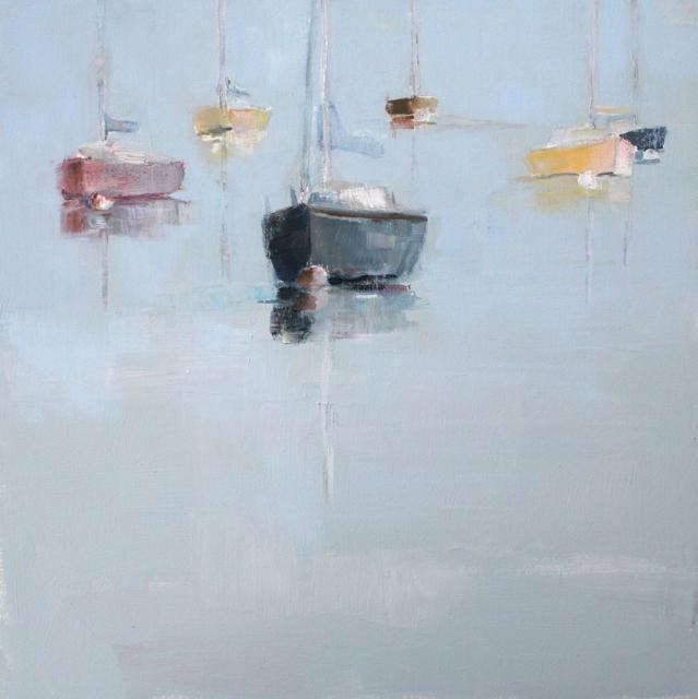 "Ellen Welch Granter | Beams | Oil on Panel | 12"" X 12"" | Sold"