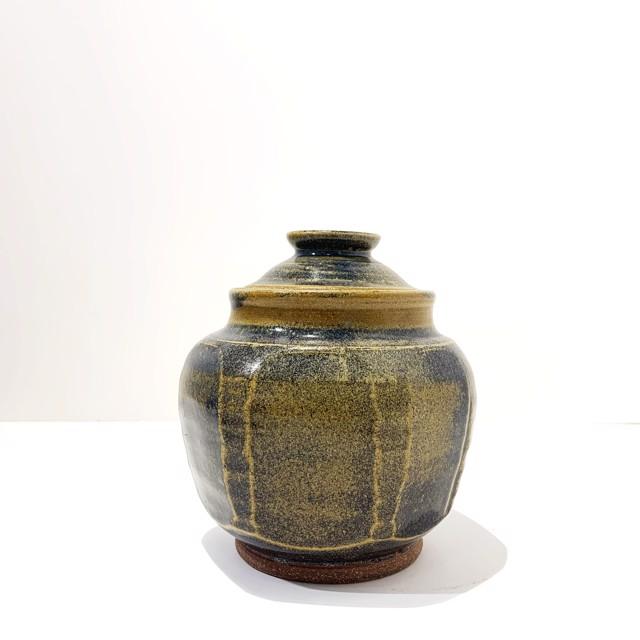 "Richard Winslow | Blue Lidded Pot | Ceramic | 7"" X 6"" | $80.00"
