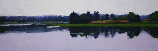 "Liz Hoag | Still Afternoon | Acrylic | 12"" X 36"" | Sold"