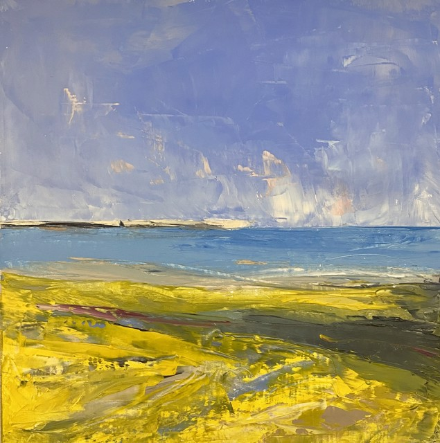 "Janis H. Sanders | Summer Shoreline 1 | Oil on Panel | 12"" X 12"" 