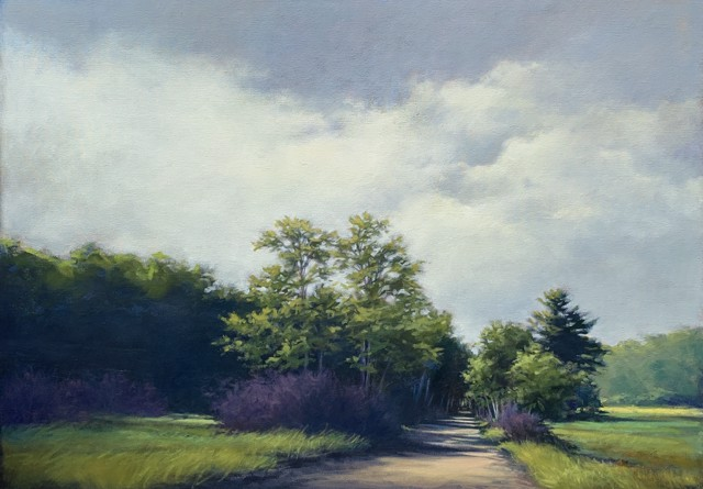 "Margaret Gerding | Bridle Path, Kennebunk | Oil on Canvas | 40"" X 56"" 