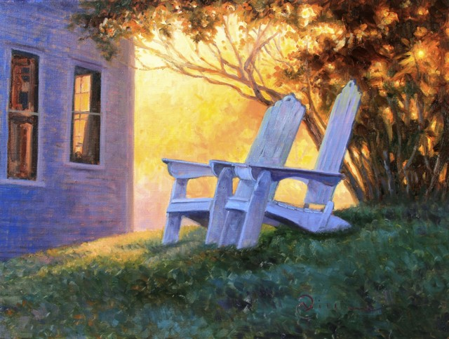 "Abbie Williams | Summer Chairs | Oil | 18"" X 24"" 