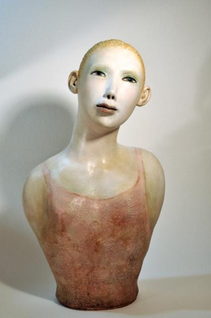 "Elizabeth Ostrander | Isabel had the Heart of a Dancer | Acrylic on Ceramic | 20"" X 12"" | $2,000.00"