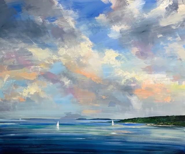 "Craig Mooney   Island Sailors   Oil on Canvas   58"" X 72""   $15,000.00"