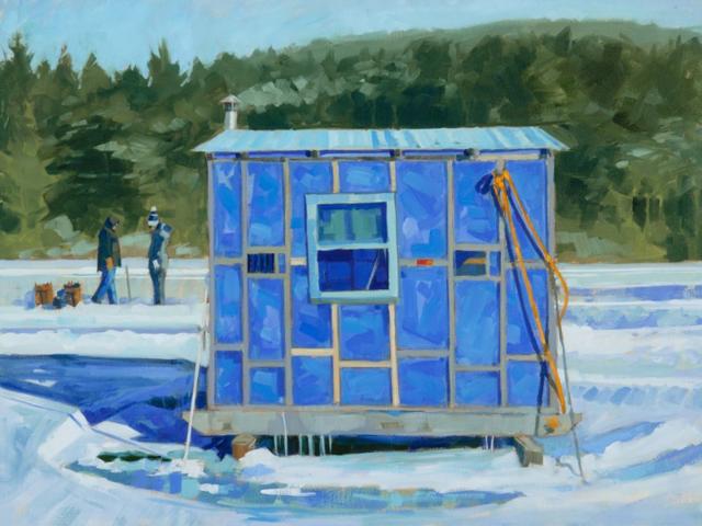 "Philip Frey | Mondrian's Ice Fishing Shack | Oil | 30"" X 40"" | $6,600.00"