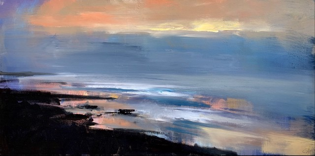 "Craig Mooney | Dawn Waves | Oil on Canvas | 24"" X 48"" 