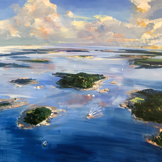 "Craig Mooney | Breezy Bay Islands | Oil on Canvas | 60"" X 60"" 