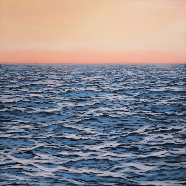 "Alex Dunwoodie | Pink Sky at Night | Oil on Board | 16"" X 16"" 