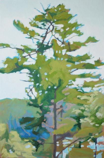 "Liz Hoag | Above It All | Acrylic | 36"" X 24"" | Sold"