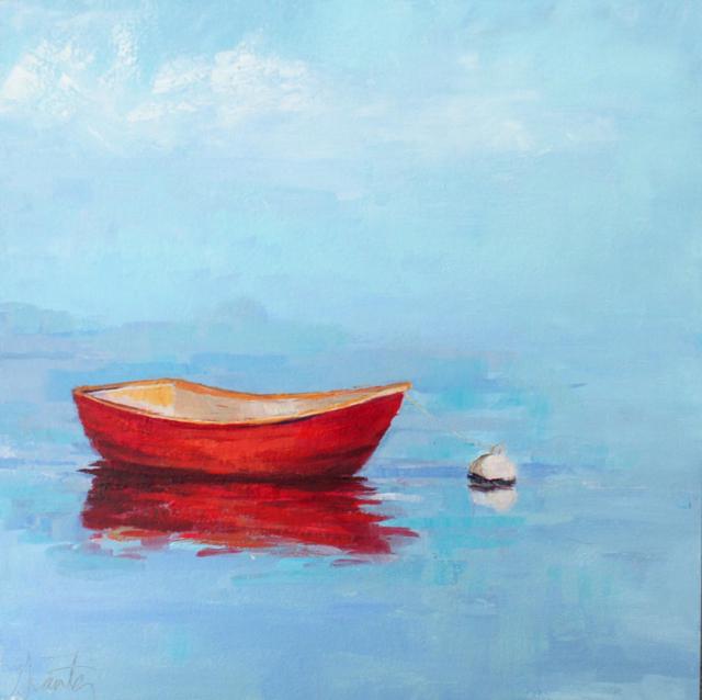 "Ellen Welch Granter | Rising Tide | Oil on Panel | 12"" X 12"" | Sold"
