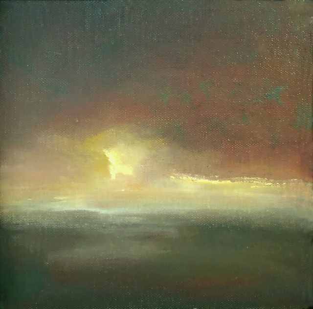 "Julie Houck | Infinity | Oil on Linen | 6"" X 6"" 