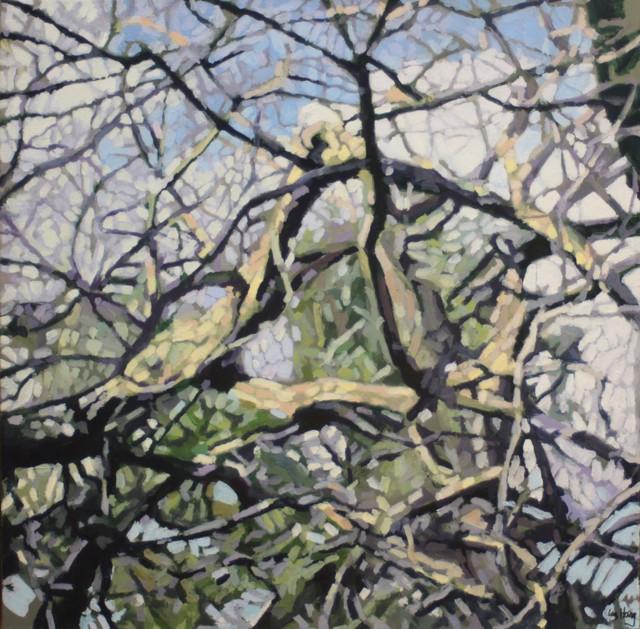 "Liz Hoag | Finding the Light | Acrylic on Canvas | 24"" X 24"" | Sold"