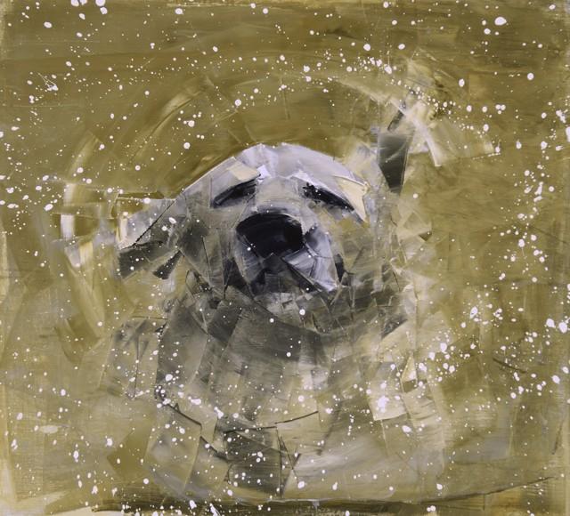 "Rebecca Kinkead | Shake (Mud Season) | Oil and Wax on Linen | 30"" X 33"" | Sold"