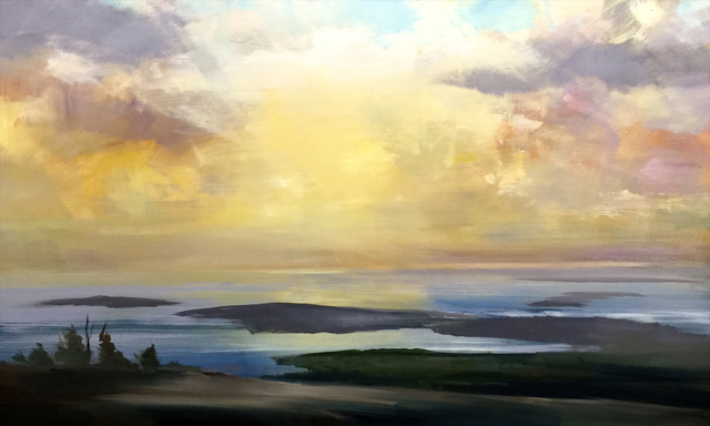 "Craig Mooney | Island Sunrise | Oil | 18"" X 30"" 