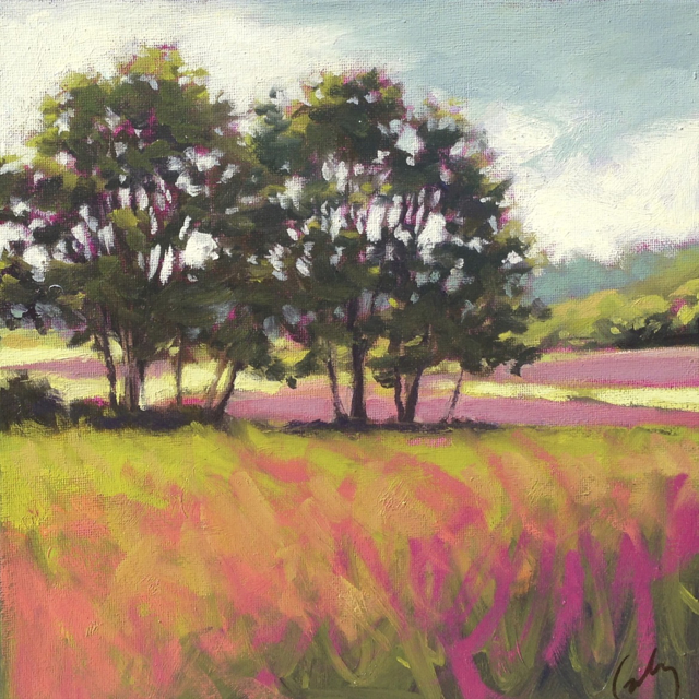 "Margaret Gerding | Study for Jordan's Fields | Oil on Canvas | 10"" X 10"" 
