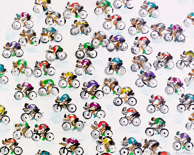 Patterned Cyclists