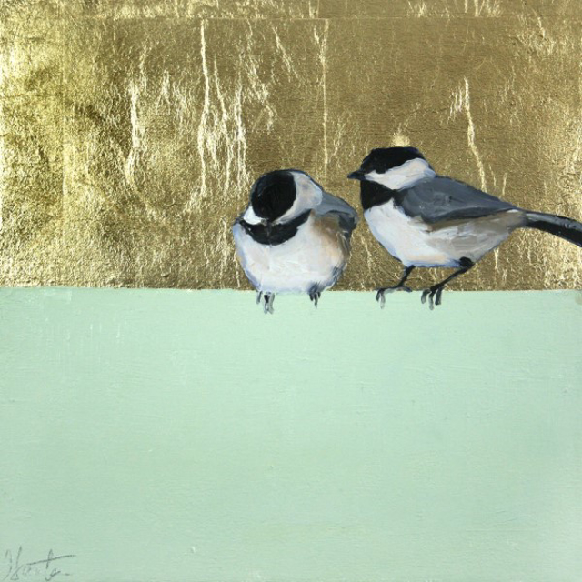 "Ellen Welch Granter | Loosely | Oil and Gold Leaf on Canvas | 12"" X 12"" 