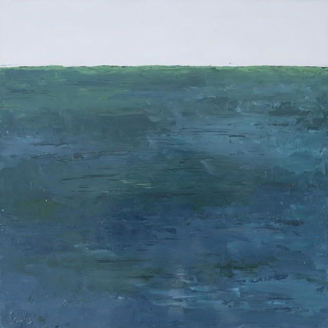 "Ellen Welch Granter | Blue Green Sea | Oil on Panel | 20"" X 20"" | $2,000.00"