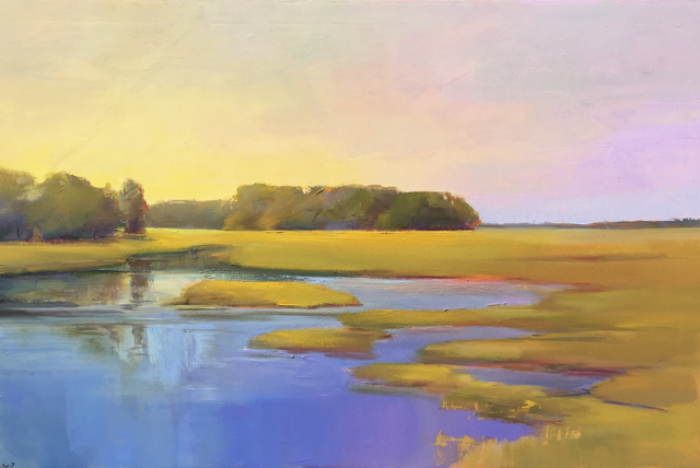 "Holly Ready | Marsh Reflections | Oil on Canvas | 24"" X 36"" 
