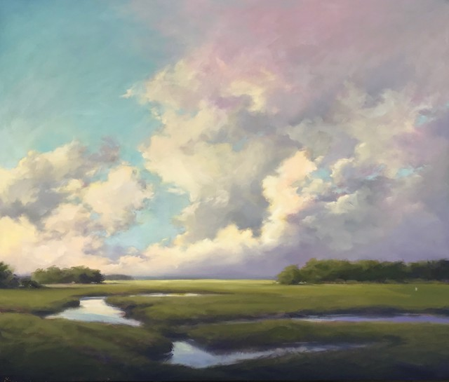 """Margaret Gerding   Cloud Layers   Oil on Canvas   40"""" X 48""""   Sold"""