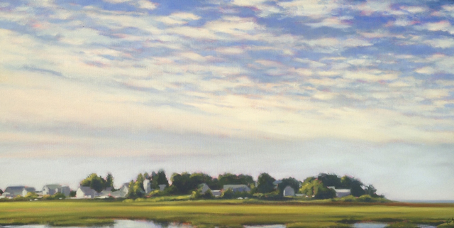 "Margaret Gerding | Great Hill Road | Oil on Canvas | 24"" X 48"" 