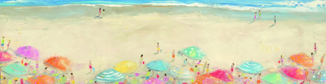 "Bethany Harper Williams | Warm Sand Salty Air  | Oil | 16"" X 60"" 