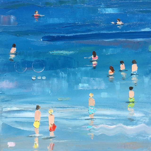 "Bethany Harper Williams | Cool Blue Water | Oil on Canvas | 14"" X 14"" 