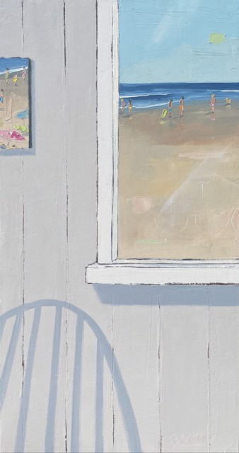 """Bethany Harper Williams   Through the Window   Oil on Canvas   16"""" X 30""""   Sold"""
