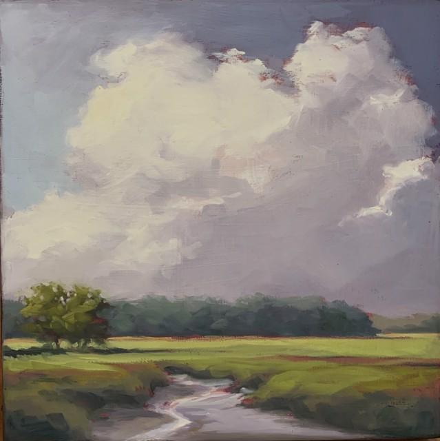"""Margaret Gerding   Maine Moments - Day 1   Oil on Panel   12"""" X 12""""   $1,750.00"""